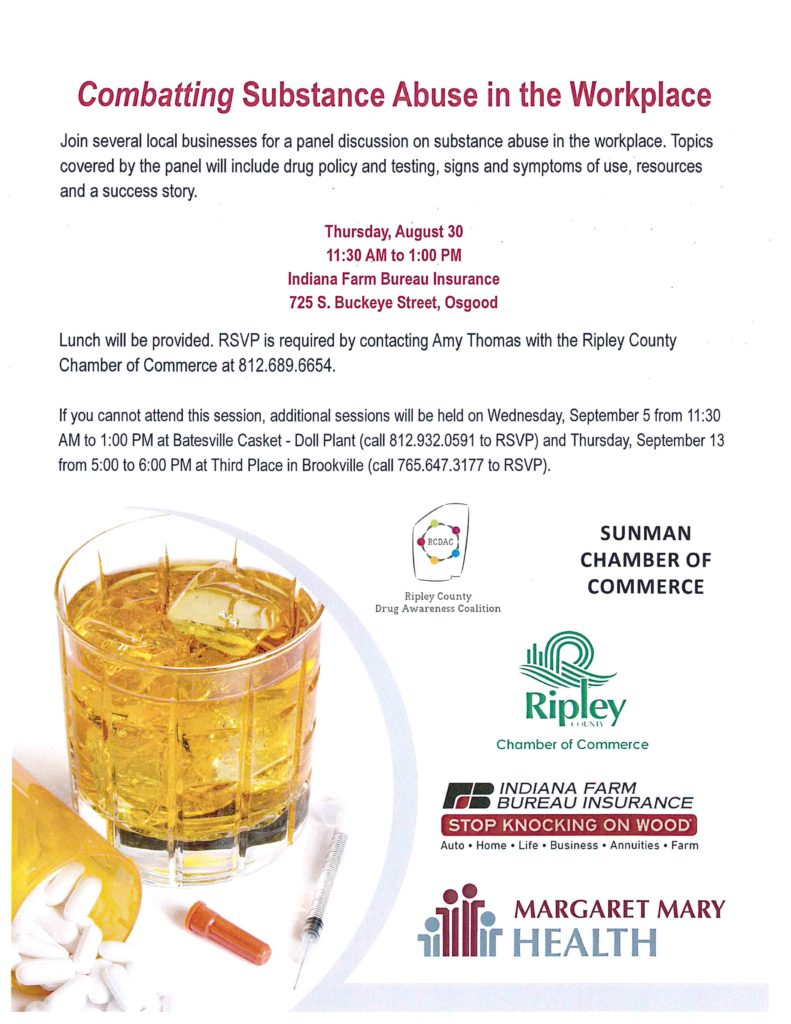 Workshop: Combating Substance Abuse in the Workplace - Ripley County